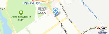 Zебра на карте Нижнего Новгорода