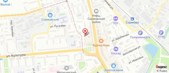 Карта расположения пункта доставки Нижний Новгород Ефремова в городе Нижний Новгород