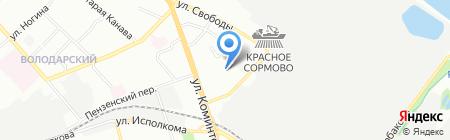 Детский сад №305 на карте Нижнего Новгорода