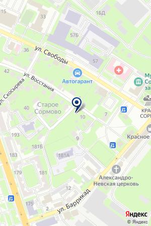 МУ БОЛЬШЕРУДКИНСКИЙ ФЕЛЬДШЕРСКО-АКУШЕРСКИЙ ПУНКТ на карте Нижнего Новгорода