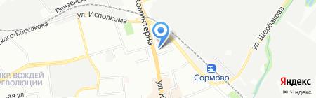 Банкомат Райффайзенбанк на карте Нижнего Новгорода