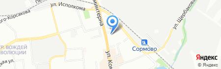 Алива Тур на карте Нижнего Новгорода