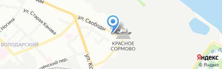 Старая мельница на карте Нижнего Новгорода