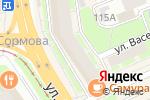 Схема проезда до компании ДОСТУПНАЯ СТРАХОВКА в Нижнем Новгороде