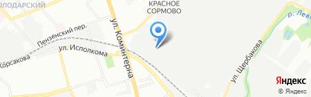 Арагс-НН на карте Нижнего Новгорода