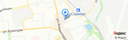 Дом ботинка на карте Нижнего Новгорода