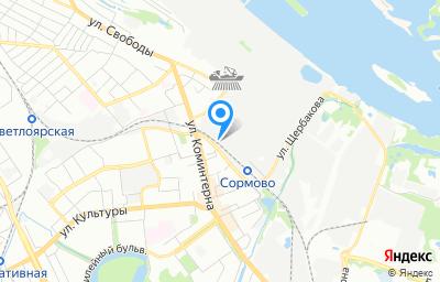 Местоположение на карте пункта техосмотра по адресу г Нижний Новгород, ул Баррикад, д 1