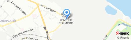 Покрытие на карте Нижнего Новгорода