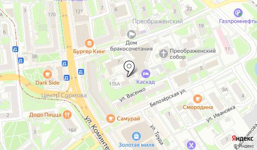 Глобус. Схема проезда в Нижнем Новгороде