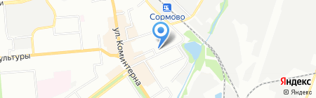 Москва-Тур-НН на карте Нижнего Новгорода