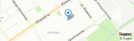 Детский сад №110 на карте Нижнего Новгорода