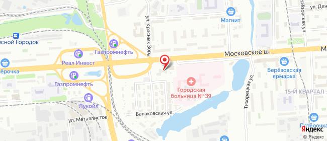 Карта расположения пункта доставки Нижний Новгород Московское в городе Нижний Новгород