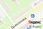 Схема проезда до компании Росбанк в Нижнем Новгороде