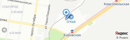 Альфеко на карте Нижнего Новгорода