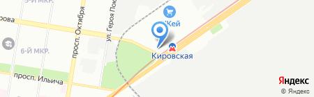 Байкал на карте Нижнего Новгорода