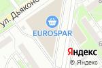 Схема проезда до компании Eurospar в Нижнем Новгороде