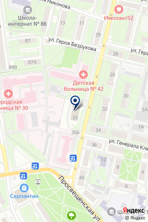 НАДЕЖДА на карте Нижнего Новгорода