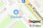 Схема проезда до компании Аллюр в Нижнем Новгороде