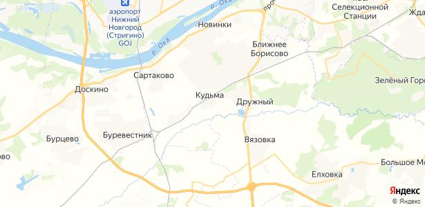 Кудьма на карте