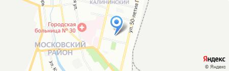Миком на карте Нижнего Новгорода