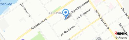 Детский сад №108 на карте Нижнего Новгорода