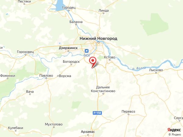 коттеджный поселок Каменки на карте
