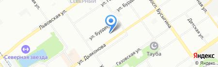 Детский сад №63 на карте Нижнего Новгорода