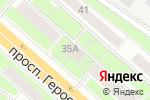 Схема проезда до компании Продуктовый магазин на проспекте Героев в Нижнем Новгороде