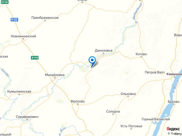 станица Малодельская на карте