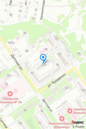 Дом 33 корп.1 по ул. Бурденко на Яндекс.Картах