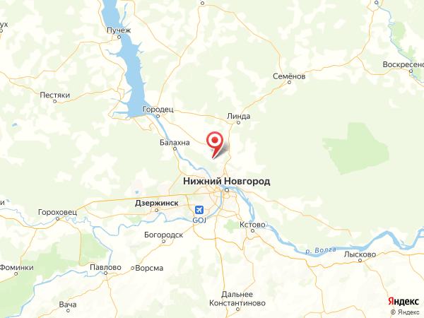 поселок Сосновское на карте