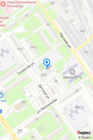 Дом 29А по ул.Мельникова, Северный дворик на Яндекс.Картах