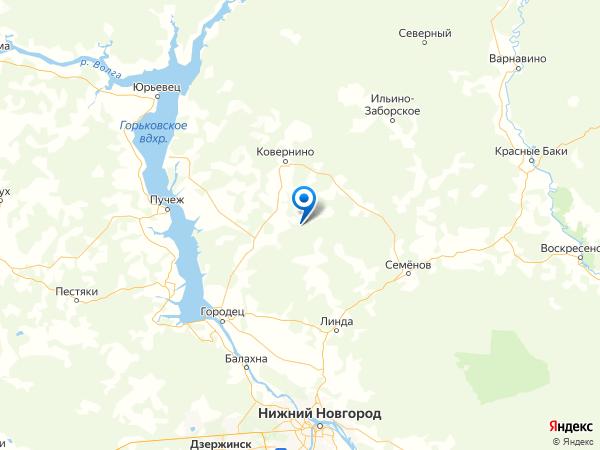 деревня Быково на карте