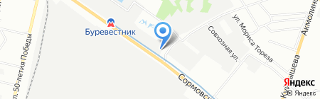 Прометей на карте Нижнего Новгорода