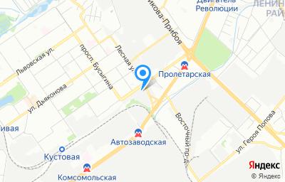 Местоположение на карте пункта техосмотра по адресу г Нижний Новгород, пр-кт Ленина, д 93