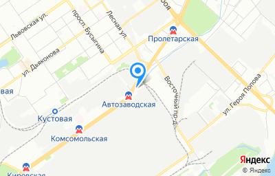 Местоположение на карте пункта техосмотра по адресу г Нижний Новгород, пр-кт Ленина, д 88Б