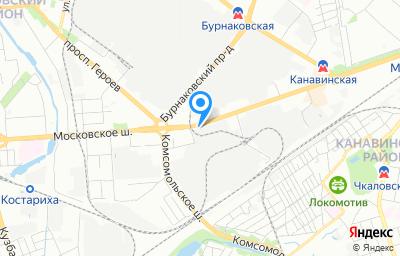 Местоположение на карте пункта техосмотра по адресу г Нижний Новгород, ш Московское, д 52