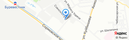 Магазин искусственных цветов и подарков на карте Нижнего Новгорода