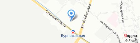Детский сад №93 на карте Нижнего Новгорода