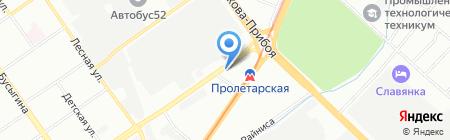 Продуктовый минимаркет на проспекте Ленина на карте Нижнего Новгорода