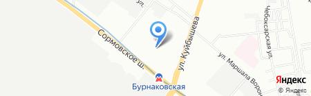 Детский сад №264 на карте Нижнего Новгорода