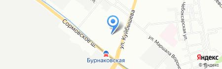 Поляна на карте Нижнего Новгорода