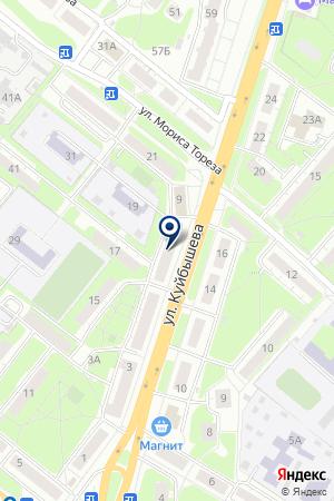 АГЕНТСТВО НЕДВИЖИМОСТИ ПАРТНЕР на карте Нижнего Новгорода