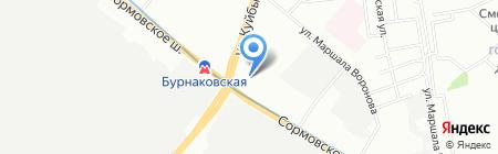 Бурнаковский на карте Нижнего Новгорода