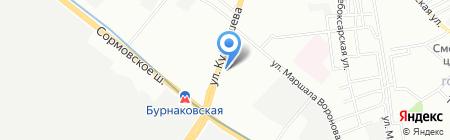 Пасмаг на карте Нижнего Новгорода