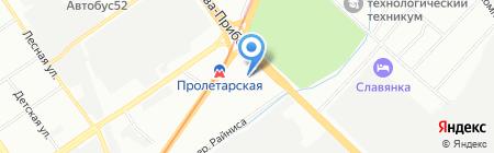 Средняя общеобразовательная школа №72 на карте Нижнего Новгорода