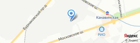 Полиэфир на карте Нижнего Новгорода
