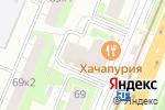Схема проезда до компании Tupperware в Нижнем Новгороде