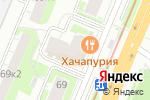 Схема проезда до компании Динозубрик в Нижнем Новгороде