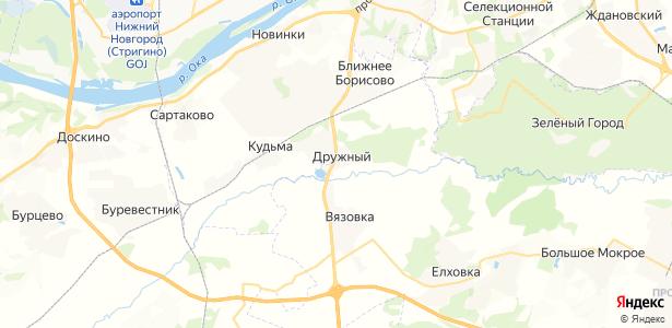 Дружный на карте